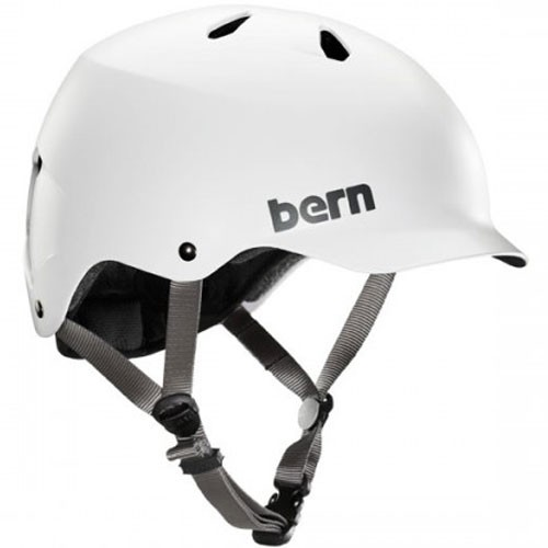 Bern Watts EPS Thin Shell Helmet - Dual Certified - Satin White
