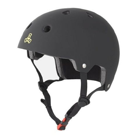Triple Eight Brainsaver Dual Certified Skateboard Helmet - Black Rubber - Meets Highest Safety Standards!
