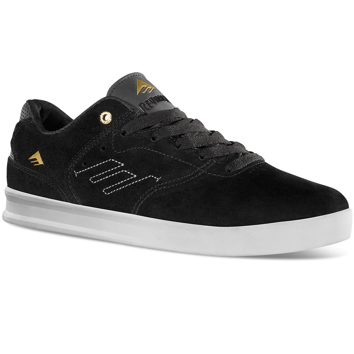 Emerica The Reynolds Low Shoes - Black / White / Gold 13.0