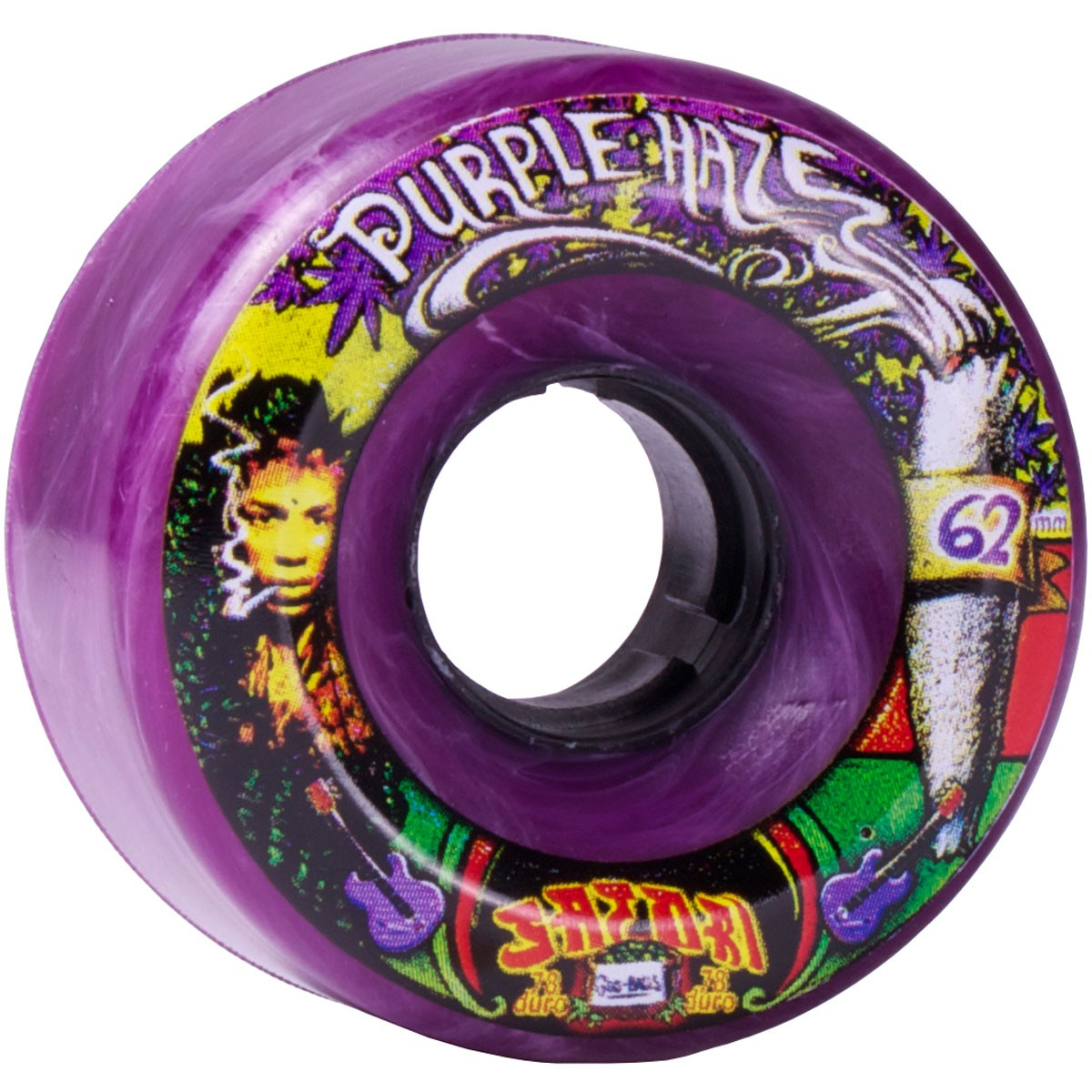 Satori Movement Goo Balls Longboard Wheels - 62mm Purple Haze