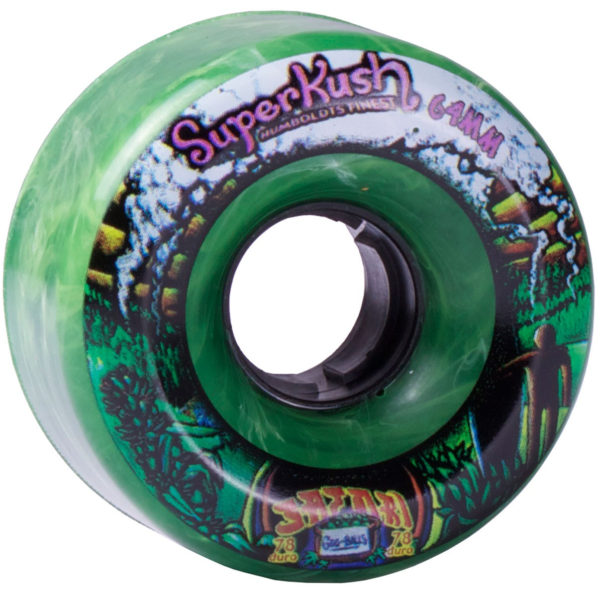 Satori Movement Goo Balls Longboard Wheels - 64mm Super Kush
