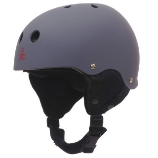 Triple Eight Old School Snow Helmet w/ Audio - Gun Metal Rubber
