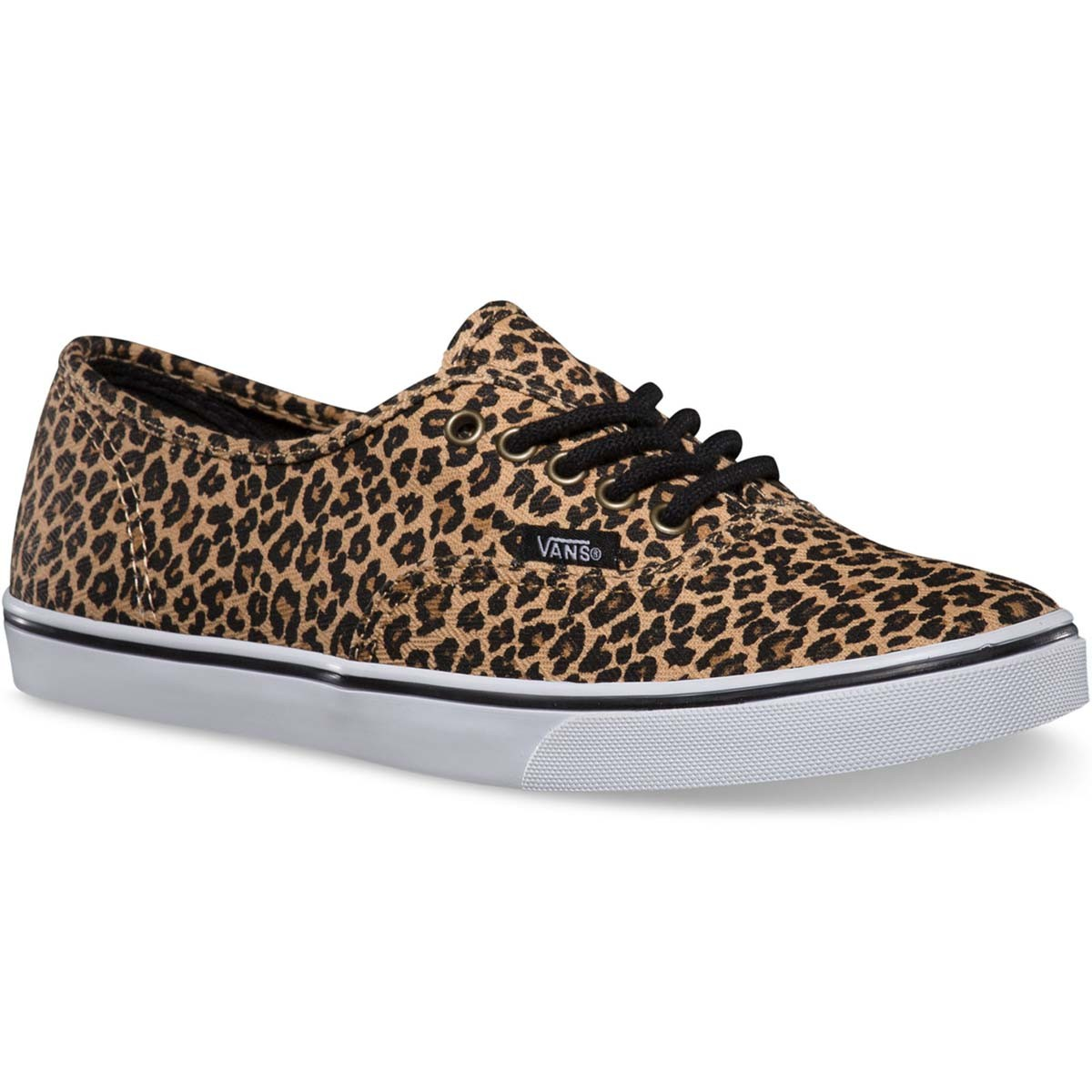 Vans Authentic Lo Pro Leopard Womens Shoes - Herringbone 7.5