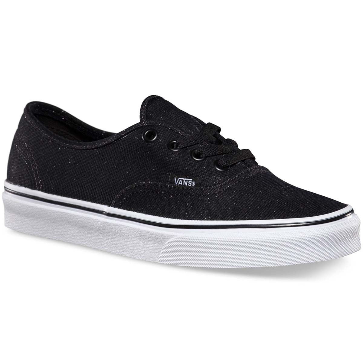 Vans Shimmer Authentic Womens Shoes - Black 7.5