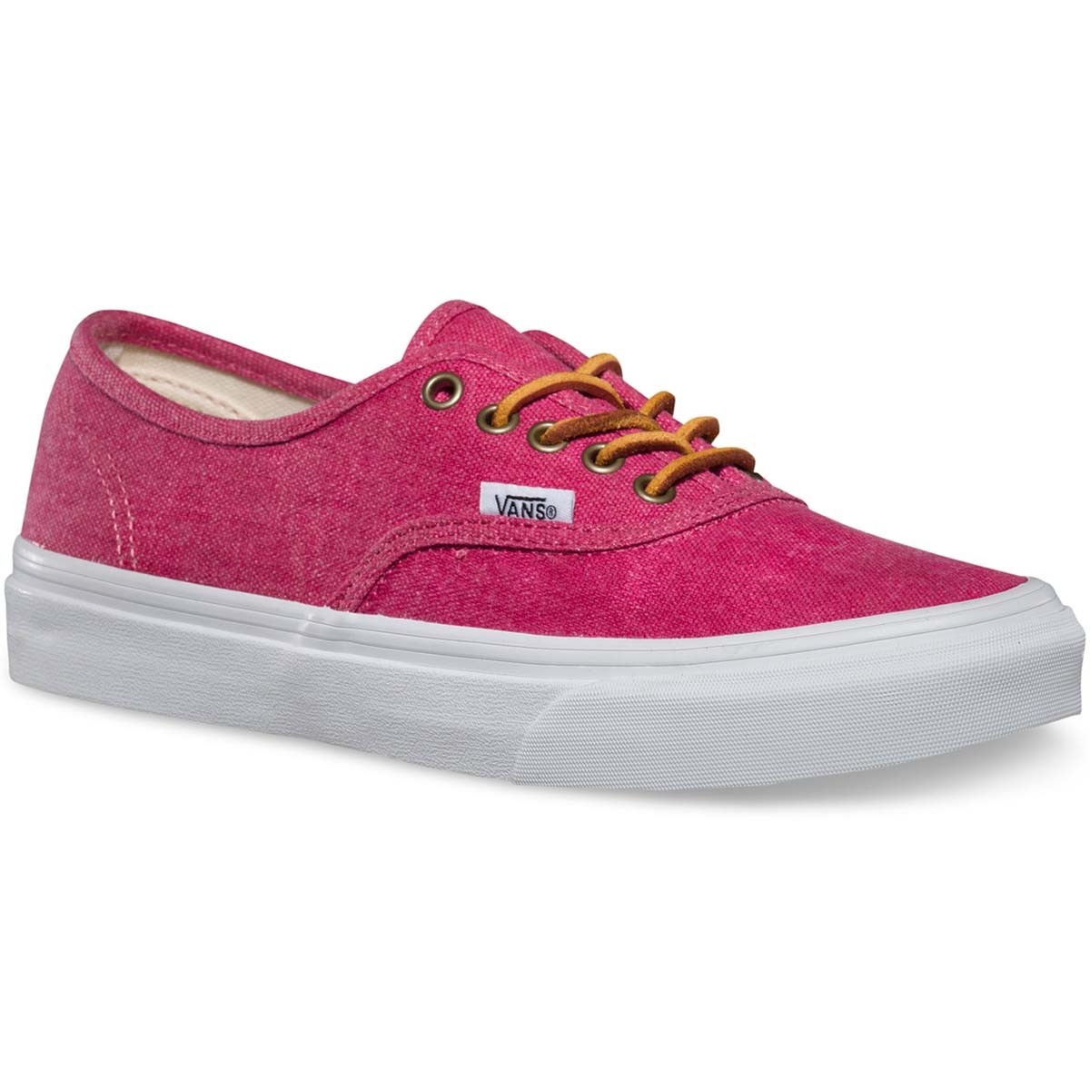Vans Washed Authentic Slim Womens Shoes - Persian Red / True White 7.5