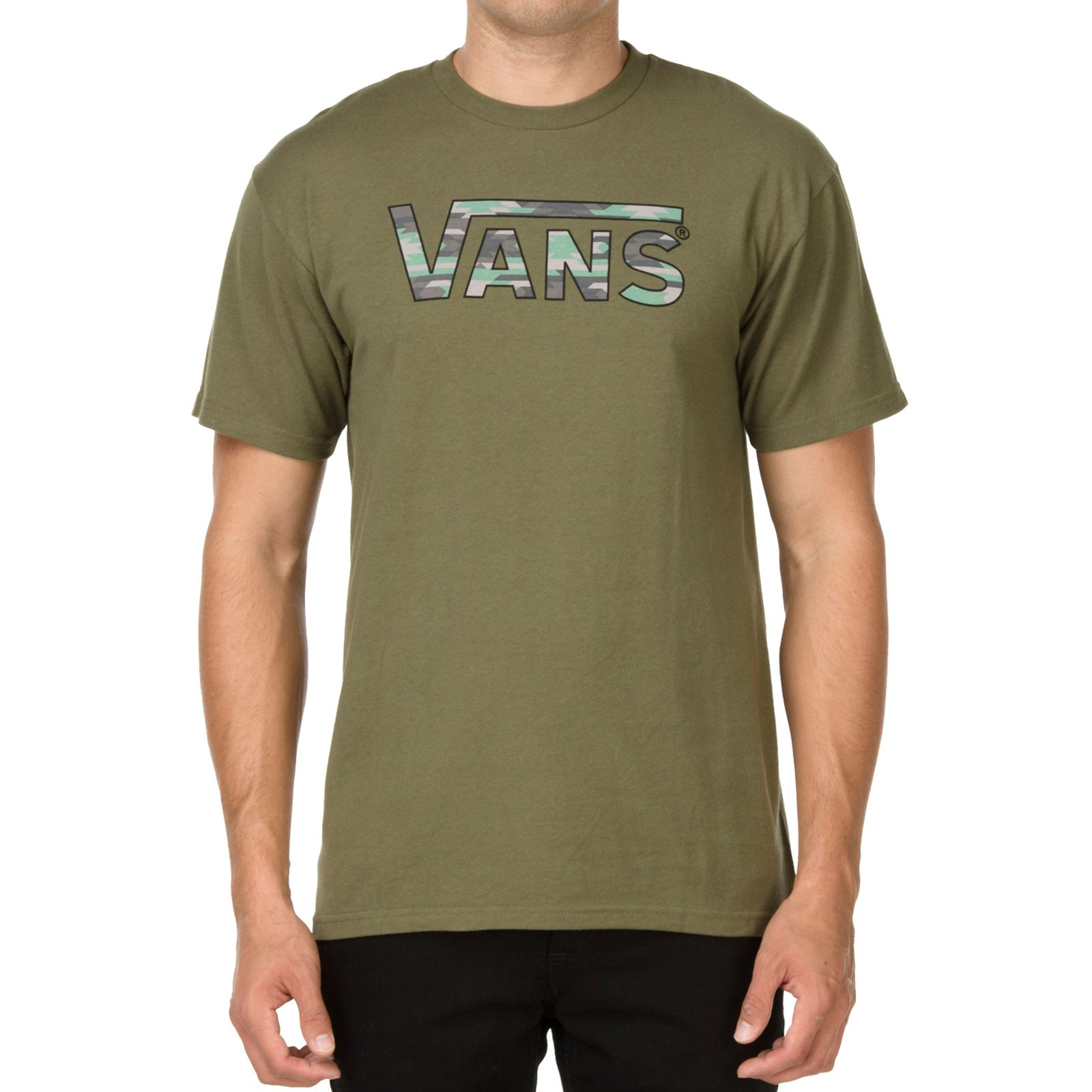 Vans Classic Fill T-Shirt - Military Green / Native Camo