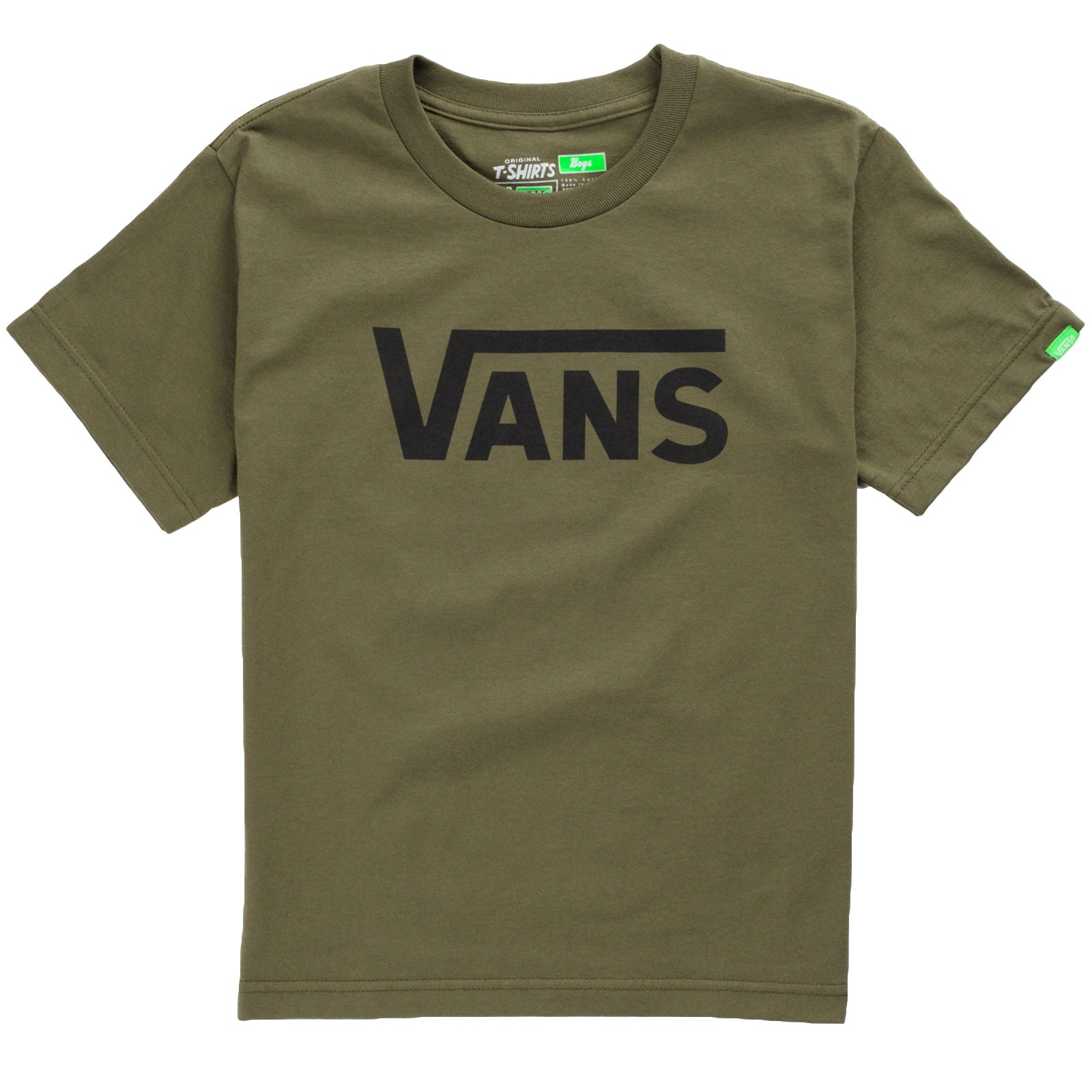 Vans Classic Youth T-Shirt - Military Green / Black
