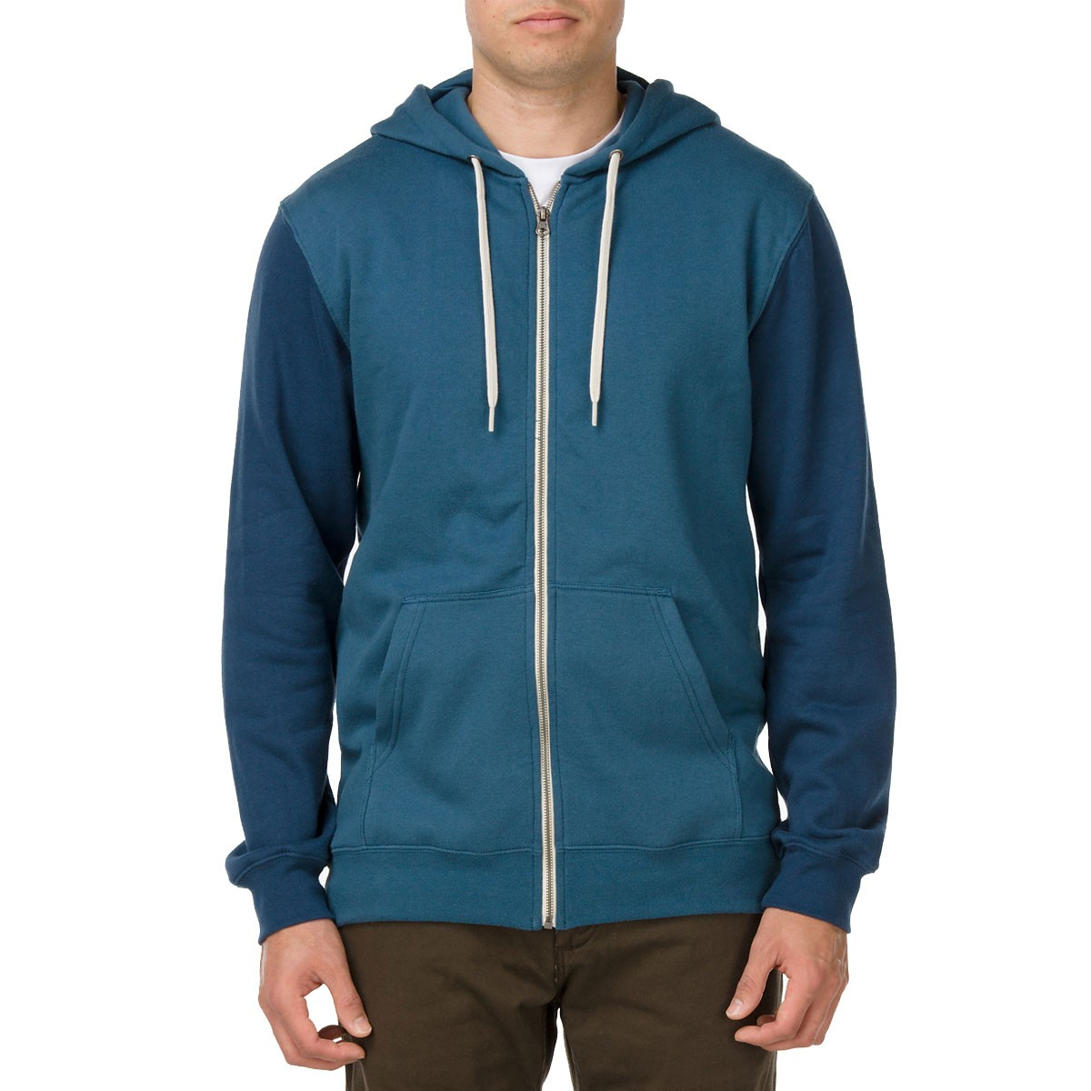 Vans Core Basics Colorblock Zip Hoodie - Indian Teal / Ice Water
