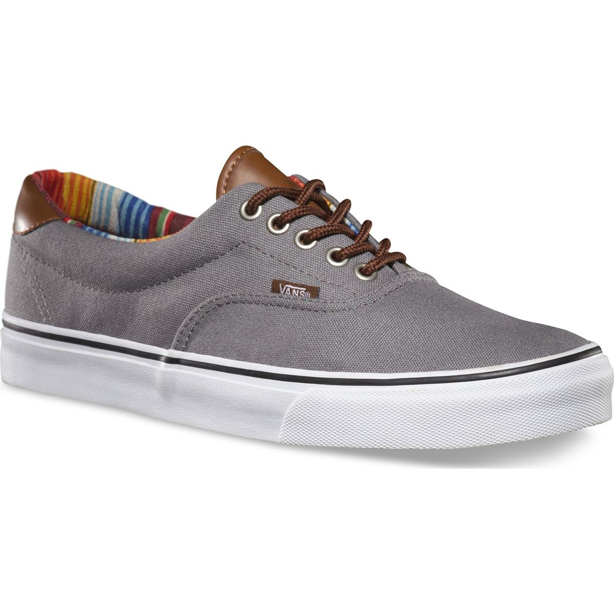 Vans C&L ERA 59 Shoes - Steel Gray / Multi Stripe