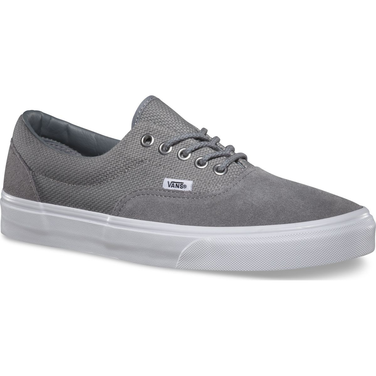 Vans Era Hemp Shoes - Monument / True White