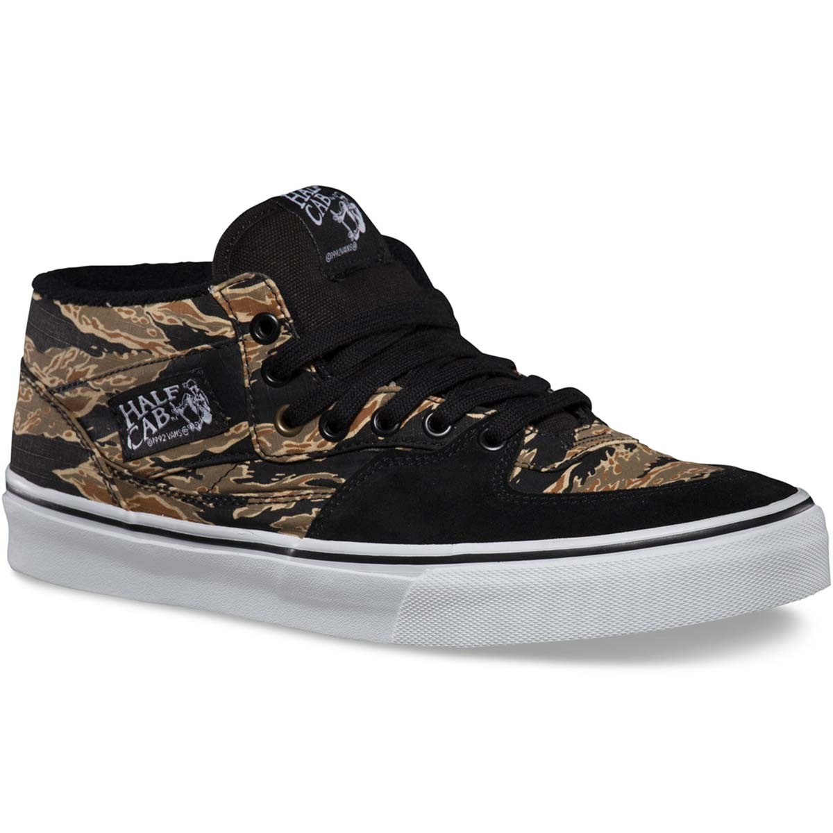 Vans Tiger Camo Half Cab Shoes - Black 11.0