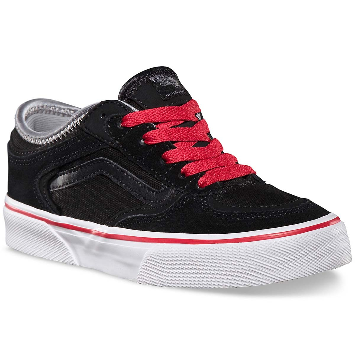 Vans Geoff Rowley Pro Youth Shoes - Black / Black / Red