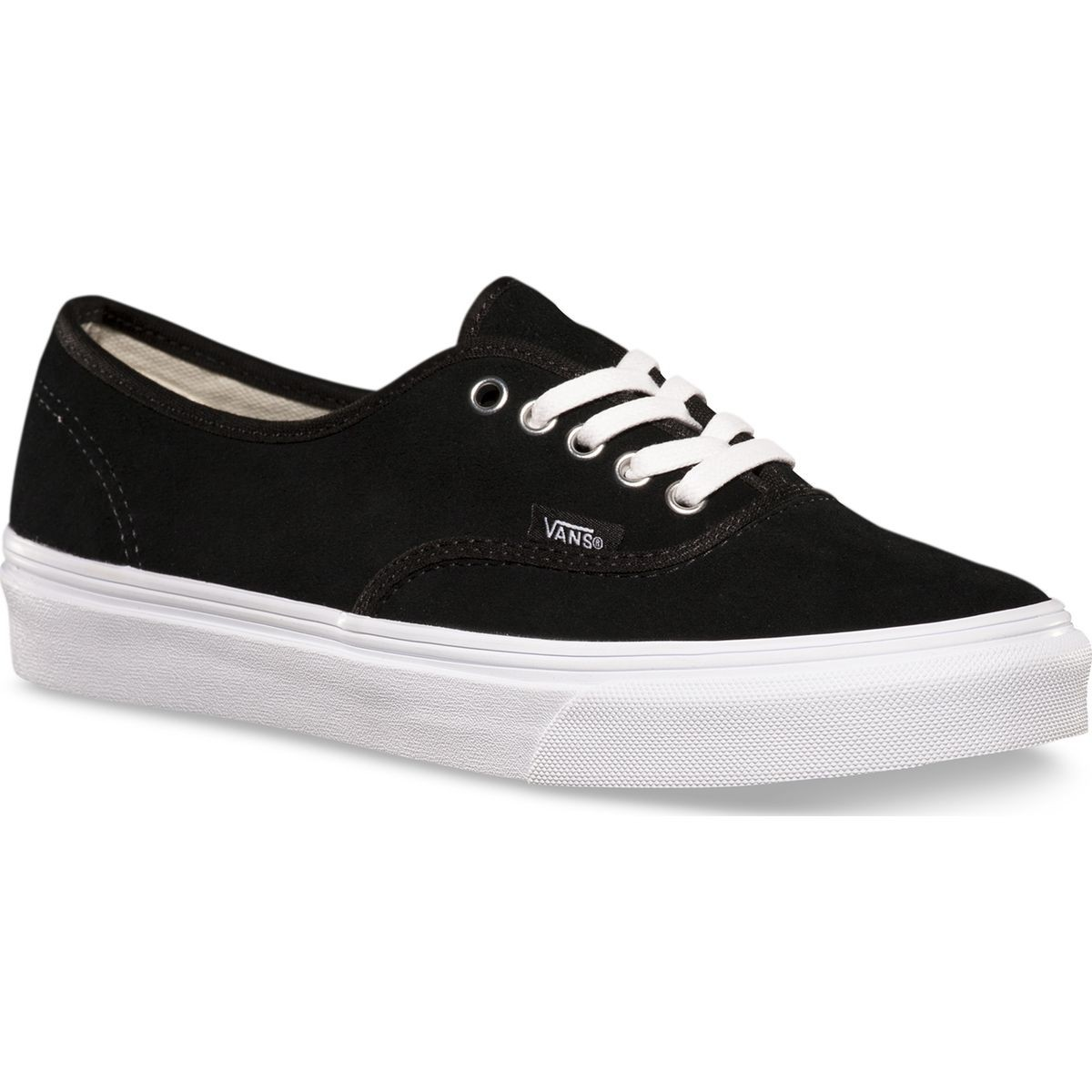 Vans Authentic Slim Womens Shoes - Black Suede