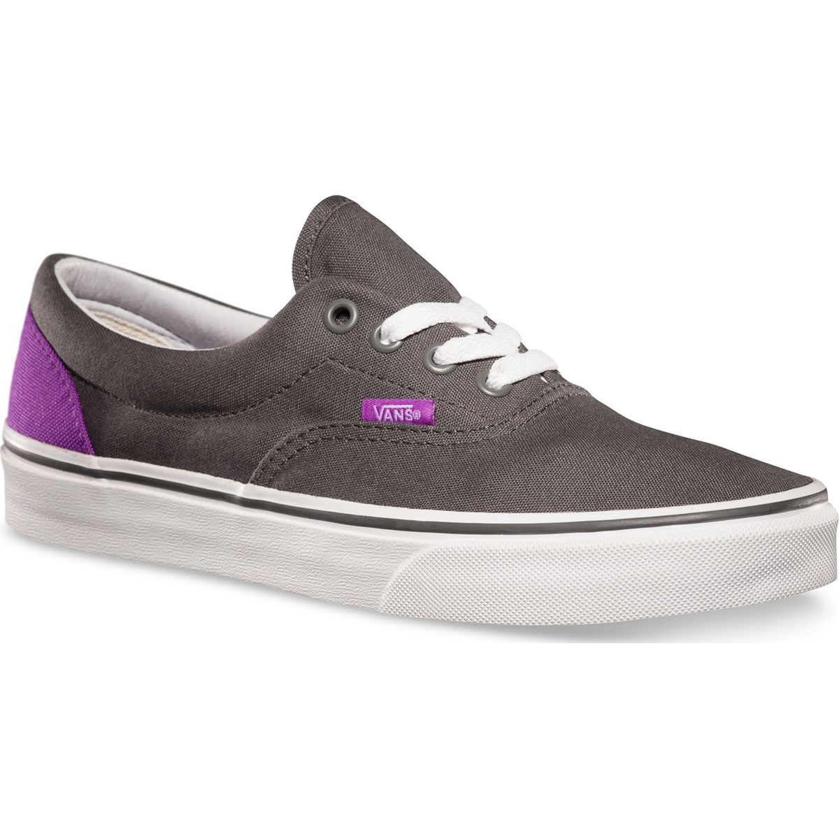 Vans ERA Heel Pop Shoes - Pewter / Neon Purple