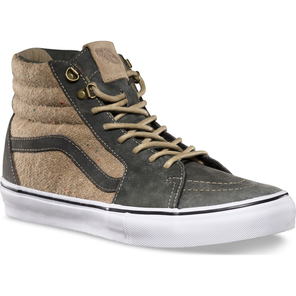 Vans Outdoor Sk8-Hi Pro Shoes - Dark Military / Tan