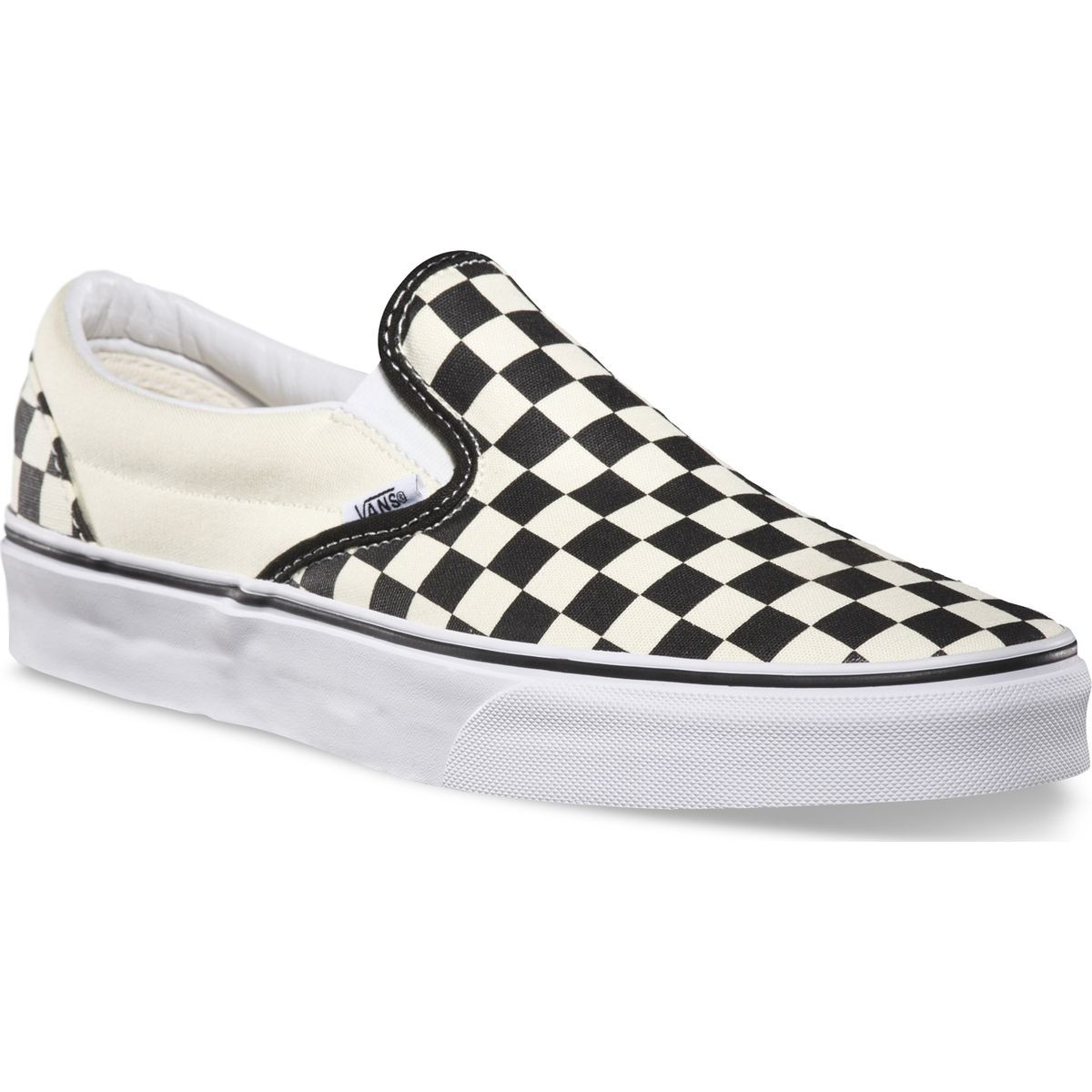 Vans Classic Slip On Shoes - Black / White Checkerboard